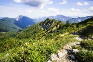 Bergpanorama auf dem Abstiegsweg
