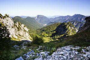 Der Blick über das Ostertal in Richtung Rauschberg